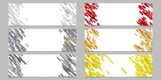 Abstrakcjonistyczna przekątna zaokrąglający lampasa wzoru sztandaru szablonu projekta set ilustracji