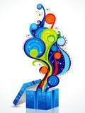 abstrakcjonistyczna pudełkowata kolorowa magia Fotografia Royalty Free