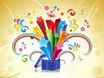 abstrakcjonistyczna pudełkowata kolorowa magia Obrazy Royalty Free