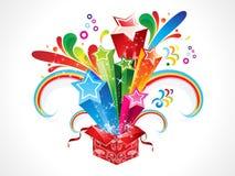 abstrakcjonistyczna pudełkowata kolorowa magia Obraz Stock