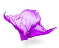 Abstrakcjonistyczna purpurowa tkanina w ruchu Obrazy Royalty Free