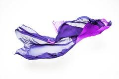 Abstrakcjonistyczna purpurowa tkanina w ruchu Fotografia Stock