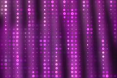 Abstrakcjonistyczna purpurowa zasłona i światło reflektorów rozmyty wzór Komiczki bac royalty ilustracja