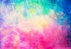 abstrakcjonistyczna ręka malująca akwarela na obrazu papieru tle Obrazy Stock