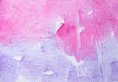 abstrakcjonistyczna ręka malująca akwarela na obrazu papieru tle Zdjęcia Stock