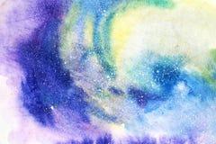 Abstrakcjonistyczna ręka malująca akwareli ilustracja Kolorowy kleks tekstury tło royalty ilustracja