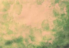 abstrakcjonistyczna ręka malująca grunge akwarela na starych obrazu papieru półdupkach Obraz Stock