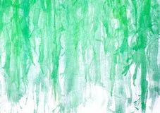 abstrakcjonistyczna ręka malująca zielona akwarela na obrazu papieru backgro Fotografia Royalty Free