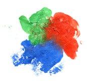 Abstrakcjonistyczna ręka malujący akwareli tło Fotografia Royalty Free
