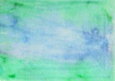 Abstrakcjonistyczna ręka malujący akwareli tło Dekoracyjna chaotyczna kolorowa tekstura dla projekta Ręka rysujący obrazek na pap Zdjęcie Stock