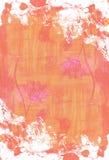 Abstrakcjonistyczna ręka malujący akwareli tło Dekoracyjna chaotyczna kolorowa tekstura dla projekta Ręka rysujący obrazek na pap Zdjęcia Stock