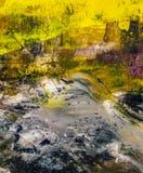 Abstrakcjonistyczna ręka malujący mieszany medialny tło zdjęcia stock