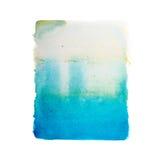Abstrakcjonistyczna ręka rysująca akwareli aquarelle farby splatter kolorowa plama Obrazy Stock