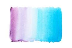 Abstrakcjonistyczna ręka rysująca akwareli aquarelle farby splatter kolorowa plama Fotografia Royalty Free