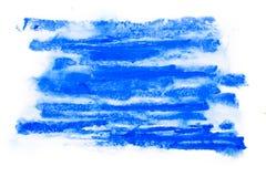 Abstrakcjonistyczna ręka rysująca akwareli aquarelle farby splatter kolorowa plama Obraz Stock