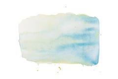 Abstrakcjonistyczna ręka rysująca akwareli aquarelle farby splatter kolorowa plama Obraz Royalty Free
