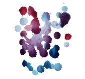 Abstrakcjonistyczna ręka rysująca akwareli aquarelle kleksa farby splatter kolorowa plama Obraz Royalty Free