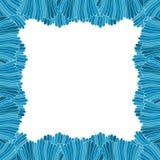 Abstrakcjonistyczna ręka rysująca błękit rama Fotografia Stock