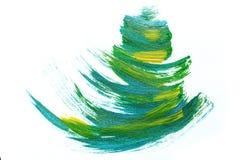 Abstrakcjonistyczna ręka rysujący akrylowego obrazu sztuki kreatywnie tło clo Obrazy Royalty Free