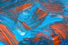 Abstrakcjonistyczna ręka rysujący akrylowego obrazu sztuki kreatywnie tło clo Obraz Stock