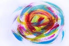 Abstrakcjonistyczna ręka rysujący akrylowego obrazu sztuki kreatywnie tło clo Zdjęcia Stock