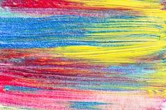 Abstrakcjonistyczna ręka rysujący akrylowego obrazu sztuki kreatywnie tło clo Obrazy Stock