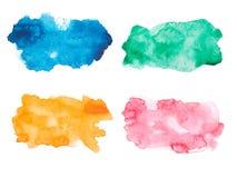 Abstrakcjonistyczna ręka rysujący akwareli aquarelle kolorowy Fotografia Royalty Free