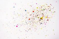 Abstrakcjonistyczna ręka rysujący akwareli pluśnięcie Zdjęcia Stock