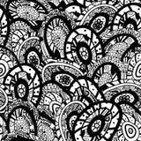 Abstrakcjonistyczna ręka rysujący bezszwowy tło wzór Fotografia Stock