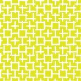 Abstrakcjonistyczna ręka rysujący bezszwowy wektoru wzoru biel i kolor żółty Obraz Stock