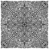 Abstrakcjonistyczna ręka rysujący doodle tło ilustracja wektor
