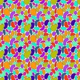 Abstrakcjonistyczna ręka rysujący kolorowy bezszwowy wzór Zdjęcie Royalty Free