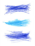 Abstrakcjonistyczna ręka rysujący koloru projekta elementy Zdjęcie Stock