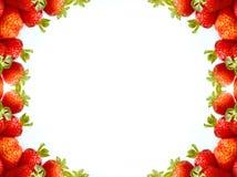 abstrakcjonistyczna ramowa truskawka Obraz Stock