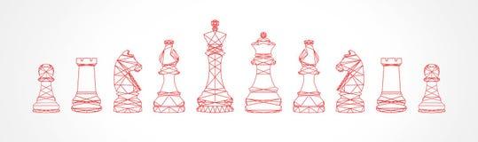Abstrakcjonistyczna rodzina szachy Obrazy Royalty Free