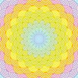 Abstrakcjonistyczna Round wianku składu tęczy rama skali natury tęczy prosty tło z azjata fali okręgu wzoru zielenią wrzeszczy royalty ilustracja