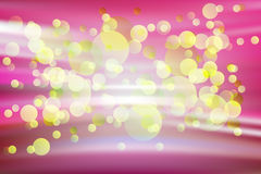 Abstrakcjonistyczna rozjarzona żółta kropka Zdjęcia Stock