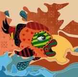 abstrakcjonistyczna ryba Obrazy Royalty Free