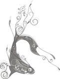 abstrakcjonistyczna ryba Zdjęcia Royalty Free