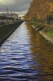 abstrakcjonistyczna rzeka Obrazy Stock
