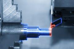 Abstrakcjonistyczna scena CNC lath kręcenia maszynowa maszyna Obrazy Royalty Free