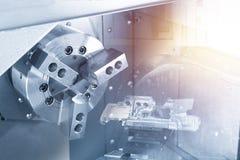 Abstrakcjonistyczna scena CNC lath maszyna obrazy stock
