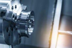 Abstrakcjonistyczna scena CNC lath maszyna Fotografia Stock