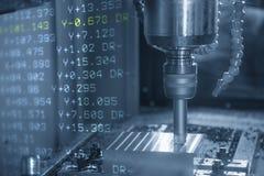 Abstrakcjonistyczna scena CNC mielenia maszyna Obrazy Royalty Free