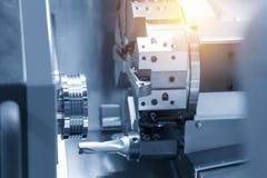Abstrakcjonistyczna scena CNC tokarki maszyna Obrazy Royalty Free