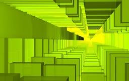 Abstrakcjonistyczna scena, kolorowa futurystyczna struktura Zdjęcie Royalty Free