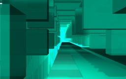 Abstrakcjonistyczna scena, kolorowa futurystyczna struktura Zdjęcia Royalty Free