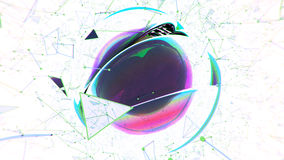 Abstrakcjonistyczna sfera na białym tle Zdjęcia Royalty Free