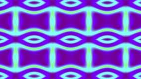 Abstrakcjonistyczna siatka robić z łączącego łańcuchu członuje odmienianie kolory w cyraneczce, zieleni, purpurach i inny, 4k wid royalty ilustracja