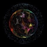 Abstrakcjonistyczna sieć odizolowywająca na czarnym tle Zdjęcie Stock